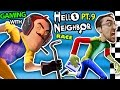 HELLO NEIGHBOR vs. ME! BASEMENT RACE CHALLENGE IRL GAMING! Alpha 3 SECRETS REVEALED? (FGTEEV Part 9)