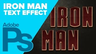 IRON MAN Text in Photoshop