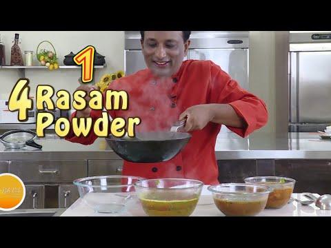 Tasty Rasam Powder and 4 Rasam- Tomato, Pepper, Chicken  and Dal Rasam