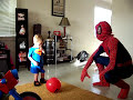 Spiderman at Augustine's 2nd Birthday
