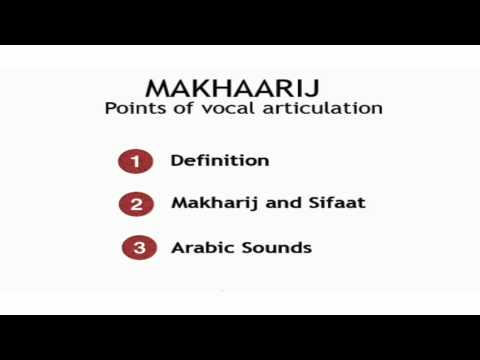 Tajweed lesson 1: Introduction to the makhaarij ( points of articulation)