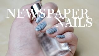 Dagi Bee &#8211; NEWSPAPER &#8211; NAILS TUTORIAL