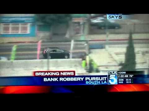 Car Chase Bank Robbers Throw Away Money