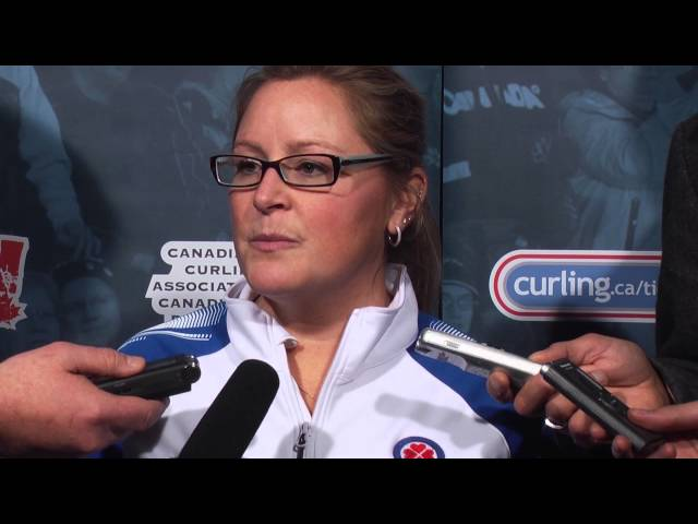 Draw 14 Media Scrum - 2013 Scotties Tournament of Hearts