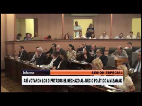 <b>Juicio político a Mizawak. </b>Así votaron los diputados el rechazo de la acusación