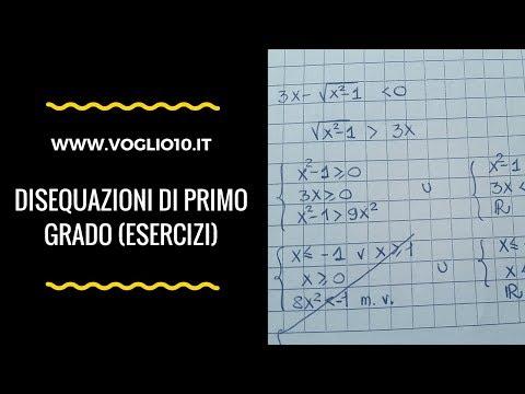 Disequazioni di primo grado 2