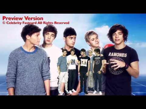 One Direction Celebrity Fast Card - Thinking Of You