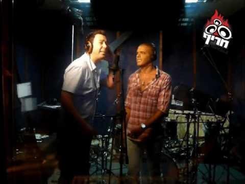 אייל גולן וליאור נרקיס בהקלטות לדואט אני מבטיח Eyal Golan