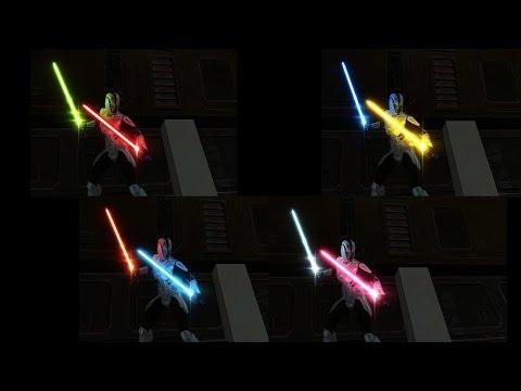 Как сделать световой меч в swtor