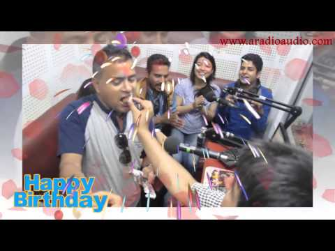 Jitu nepal Birth day celebration @ Radio Audio