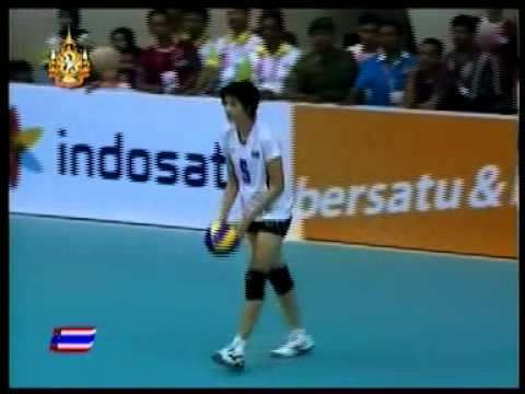 Thailand vs Indonesia - 2011 sea games women's volleyball