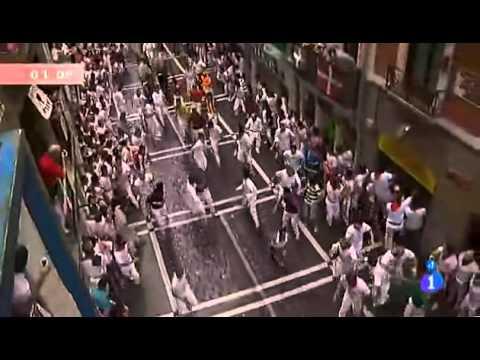 8 de Julio - Segundo encierro  de San Fermín 2012  (Ganadera de Miura)