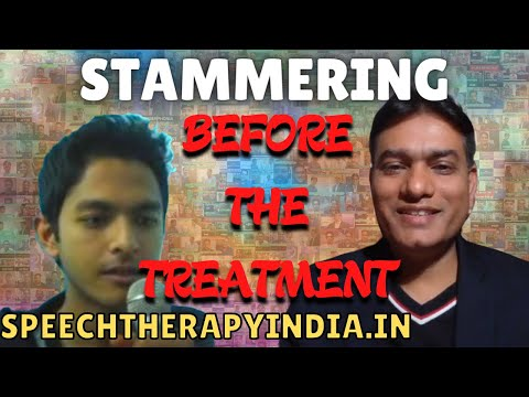 stammering  cure in India, before treatment at Sanjay Kumar's speech therapy center in Banagalore