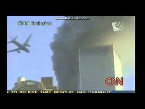 Twin Towers - CNN ( Plane crash SLOW )