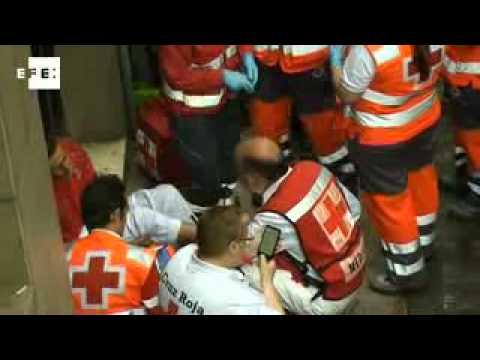 Siete heridos en el tercer encierro de los Sanfermines