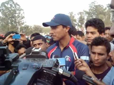 Nepalese cricket Captain Parash Khadka