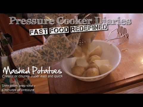 How to Make Mashed Potatoes - Pressure Cooker 6 Minute Garlic Mashed Potatoes