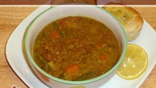 Lentil Vegetable Soup ..