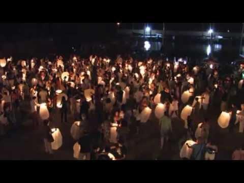"""USTICA: Sky Lanterns Show. Agosto 2012 . """"di Claudio La Valle"""""""