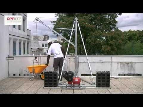 Montage et démontage en sécurité d une grue de terrasse