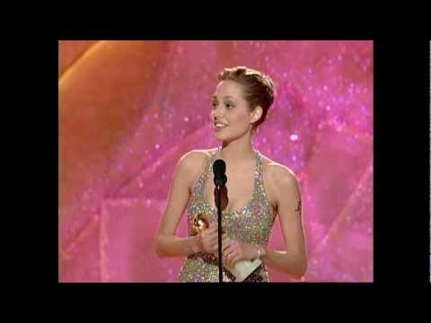 Golden Globes 1999 Angelina Jolie wins best actress mini ser