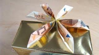 Geld Falten Blume Geldgeschenke Originell Verpacken Geldscheine