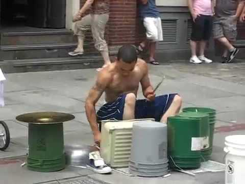 Amazing Street drummer - One of the best i-ve seen.