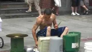 Amazing Street drummer - One of the best i've seen