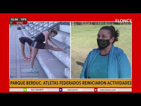 Atletas federados reiniciaron las actividades en el Parque Berduc
