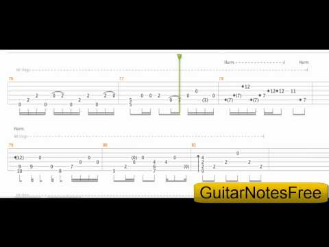 Nothing Else Matters - Sungha Jung Guitar Tab HD