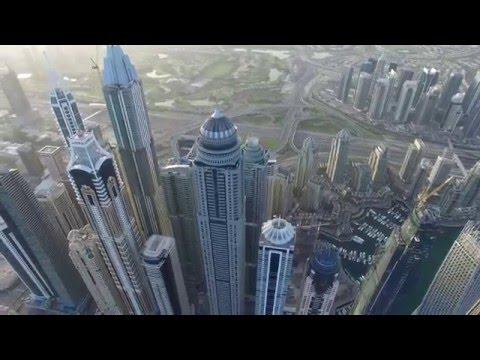 Dubai Palm Jumeirah / Dubai Marina DJI Phantom 3 & Timelapse 4K UHD