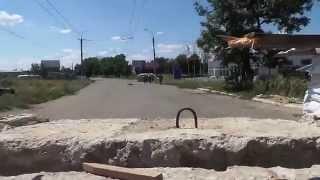 Как украинские войска входили в Славянск
