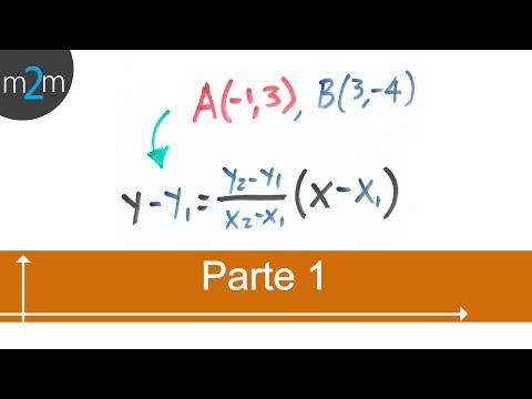 Ecuación de recta que pasa por dos puntos - geometría analítica (PARTE 1)