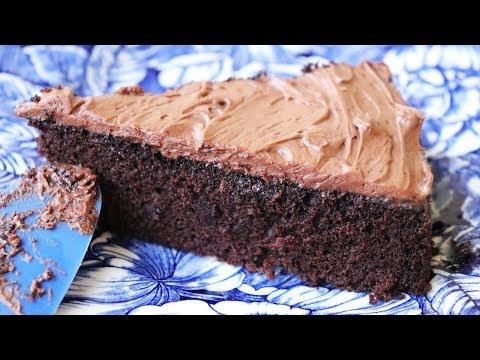 Quick & Easy Chocolate Cake - No eggs. No butter. No mixer.