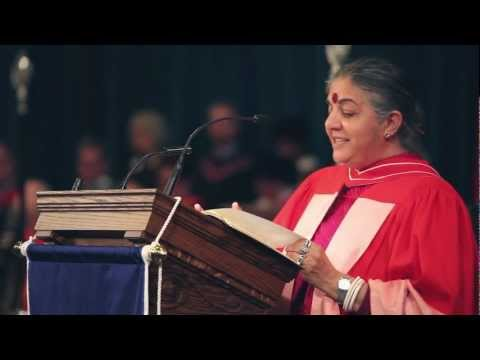 University of Toronto: Dr Vandana Shiva, Convocation 2012 Honorary Degree recipient