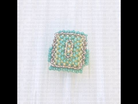 How to make a bead ring - Right Angle Weave technique (RAW)