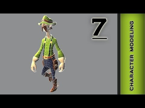 Autodesk Maya 2013 Tutorial - Character Modeling - Fingers, Reduce geometry Part 7