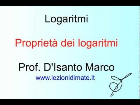 Logaritmi - Proprietà