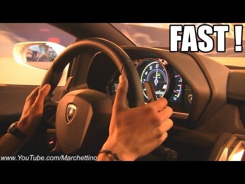 Lamborghini Aventador in Action - Ride Tunnel Accelerations Revs!