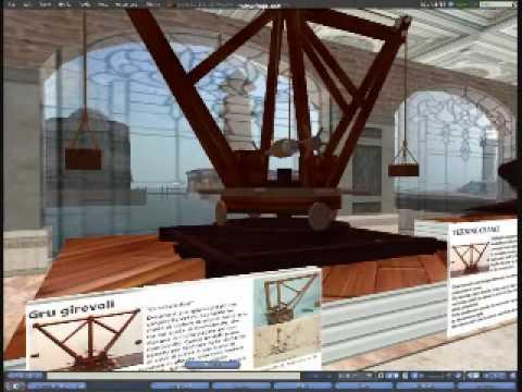 Leonardo da vinci in Second Life