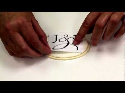 A Simple Way to Hand Paint a Monogram on Gumpaste