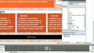 Adobe Dreamweaver Cs6 tutorials Learn to build fluid 960 grid layout div tags html5 css3 website
