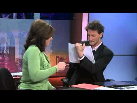 Lior Suchard reading minds at channel 8 morning show live television