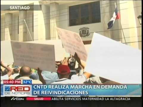 CNTD realiza marcha en demanda de reivindicaciones…