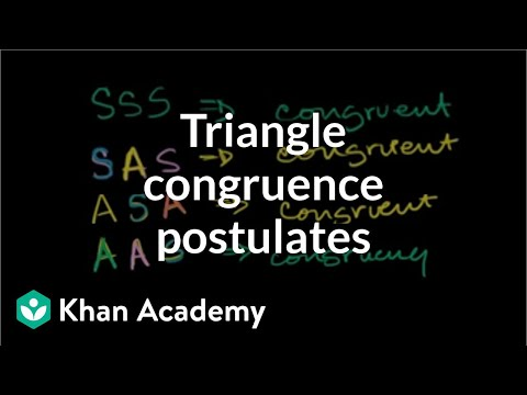Other Triangle Congruence Postulates