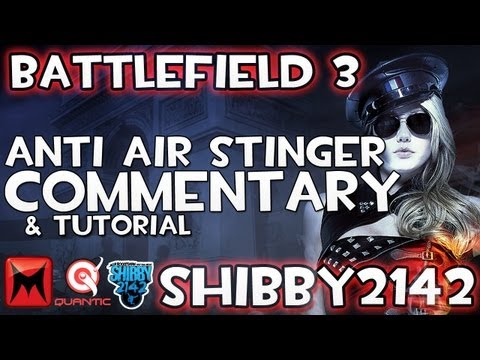 Battlefield 3 - Anti Air Stinger Gameplay Lock Shoot Reload BF3 Commentary by Shibby2142