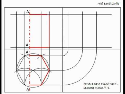 Prisma base esagonale: sezione piano // PL