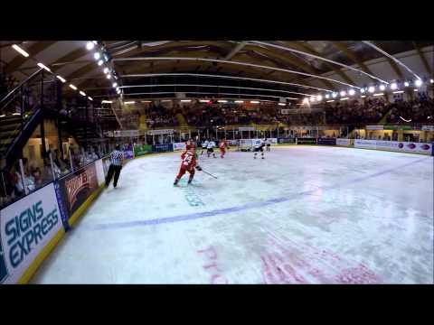GoPro footage of Ice Hockey Linesman Matt Rose of the EIHL - Cardiff vs Manchester 2015