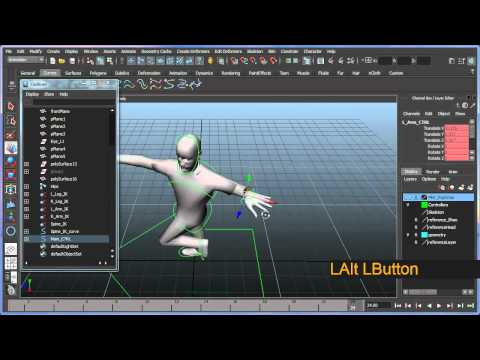 Basic bipedal character rigging setup in Maya - Part 6 of 7