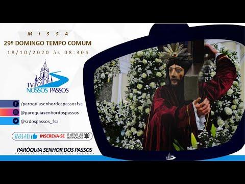 Missa do 29º Domingo do Tempo Comum - Ano A - 18/10/2020 às 08:30h